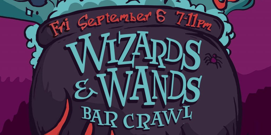 Witchy brews and other spirits will be available at the Wizards and Wands Bar Crawl in Arlington, Texas.