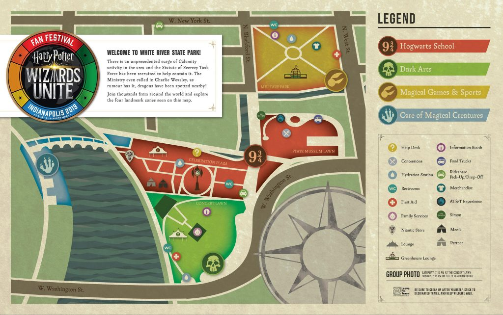 """You can find your way around the """"Harry Potter: Wizards Unite"""" Fan Festival with this official map."""