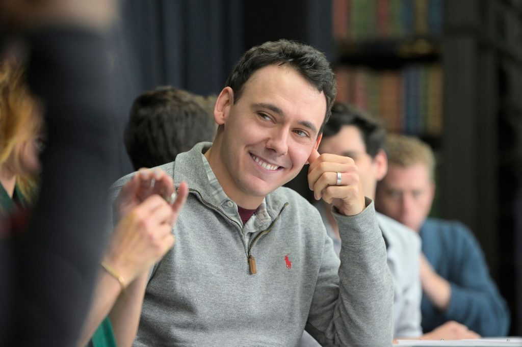 """John Skelley in rehearsal for """"Cursed Child"""""""