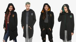 Picture of Hot Topic's new Hogwarts House hoodie cloaks