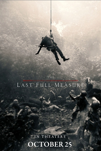 "Pictured is a movie poster for Alison Sudol's ""The Last Full Measure""."