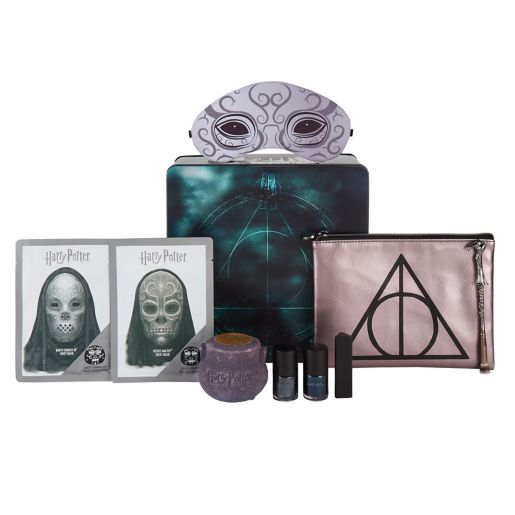 """The darker side of """"Potter""""-themed cosmetics has been collated in this Deathly Hallows set."""