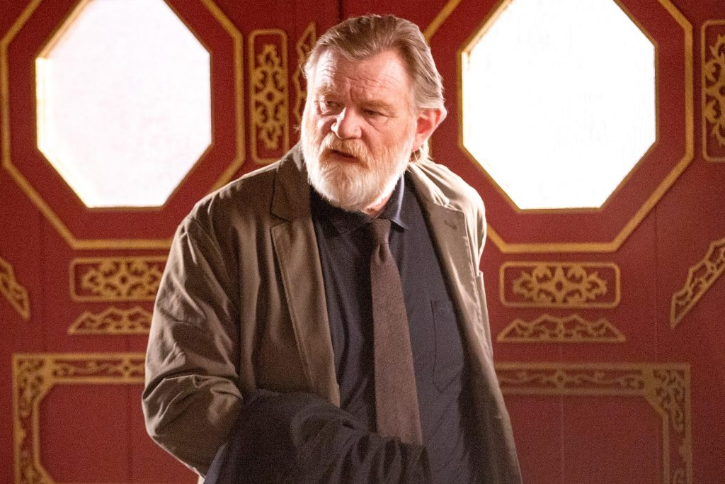 "Brendan Gleeson is pictured in a still from ""Mr. Mercedes""."