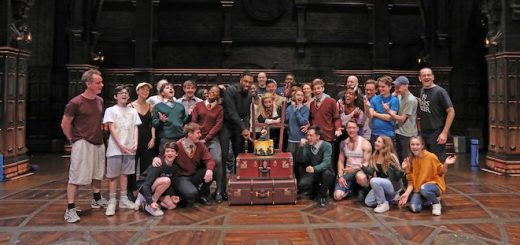 "The cast of ""Harry Potter and the Cursed Child"" celebrate back to Hogwarts day."