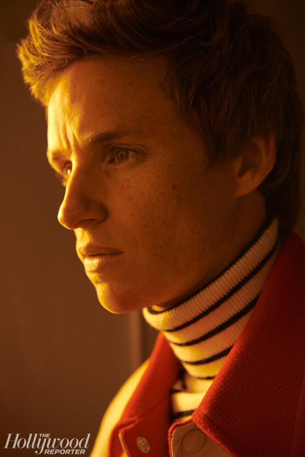 Eddie Redmayne looks introspective in this portrait from the Toronto International Film Festival.