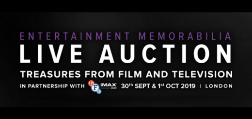 An image with information pertaining to the Entertainment Memorabilia Auction 2019
