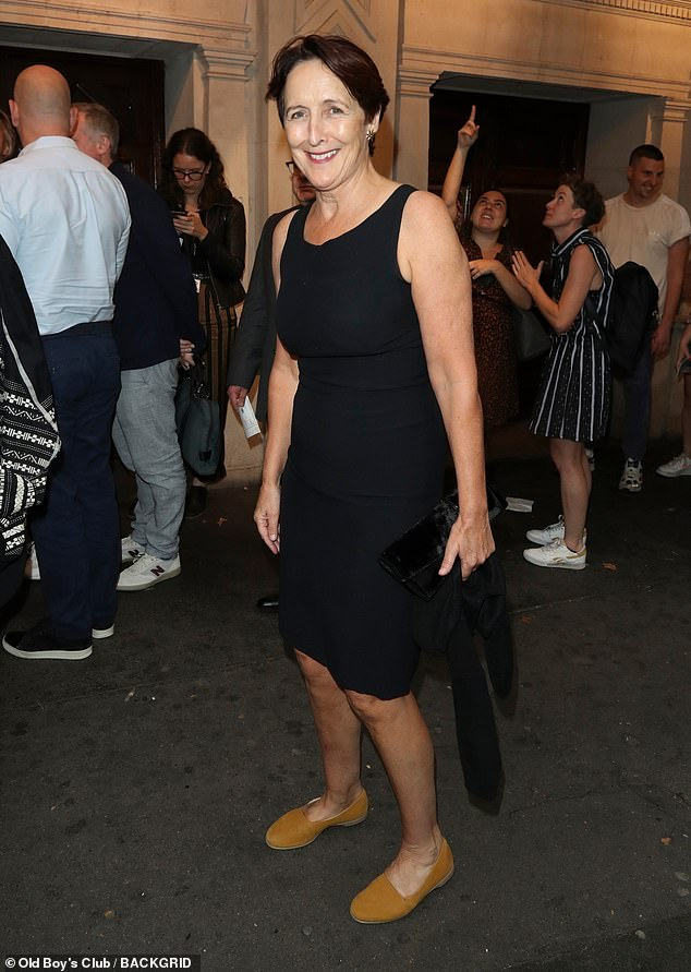 "Fiona Shaw attends Phoebe Waller-Bridge's one-woman show, ""Fleabag"", in London."
