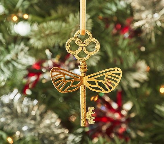 """Relive """"Harry Potter and the Sorcerer's Stone"""" with this flying key ornament, available for $16.50."""
