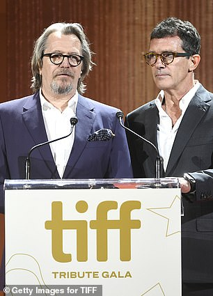 "Gary Oldman and Antonio Banderas speak about ""The Laundromat"" costar Meryl Streep at the Toronto International Film Festival."