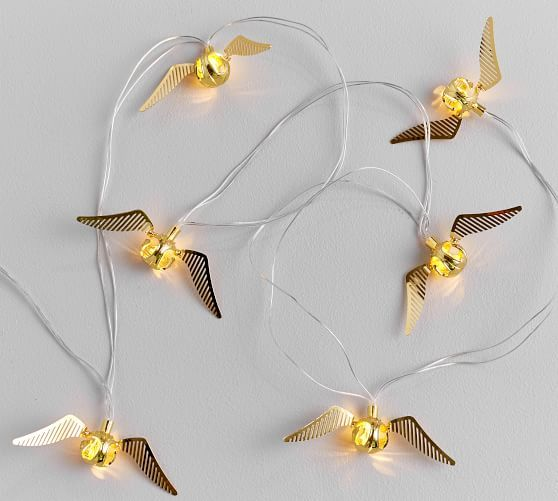 These Golden Snitch string lights will add a warm glow to festive decor.
