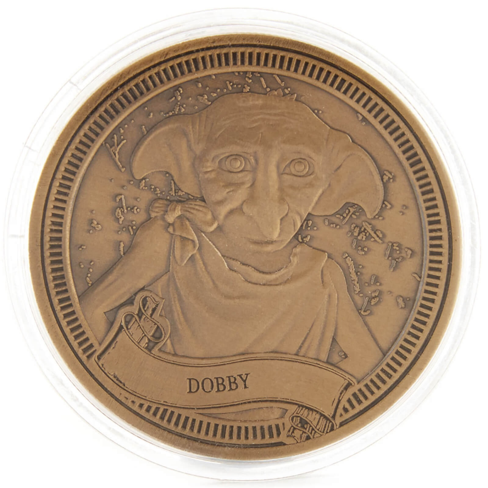 One of the coins included in the Advent calendar features Dobby.