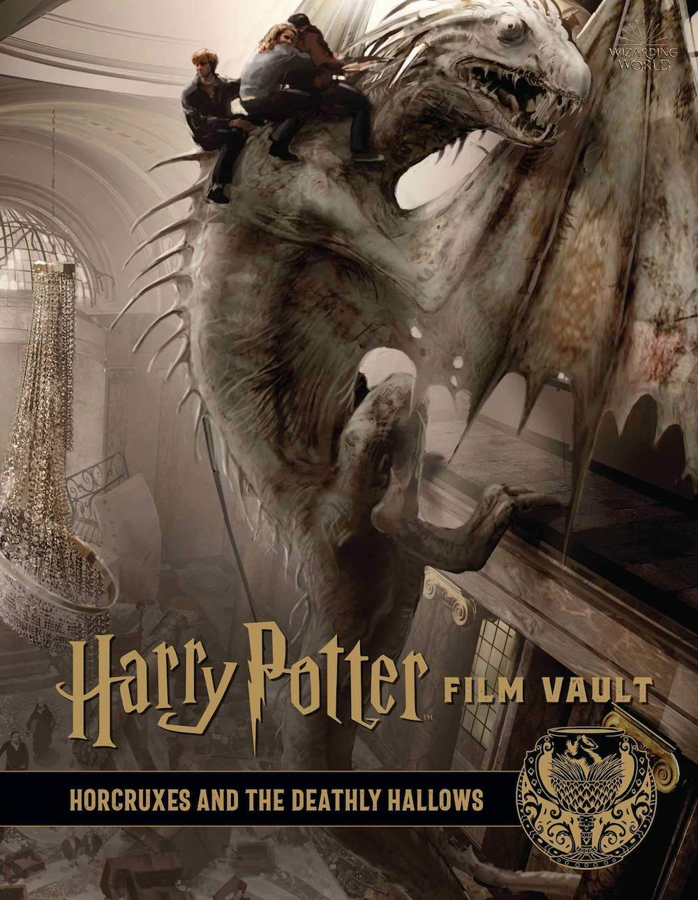 The third book in the collection shines a light on the darker elements of magic, Hocruxes and Deathly Hallows.
