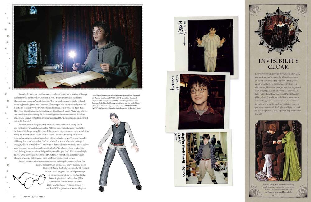 On this page spread, Daniel Radcliffe can be seen pulling funny faces in his continuity photos.