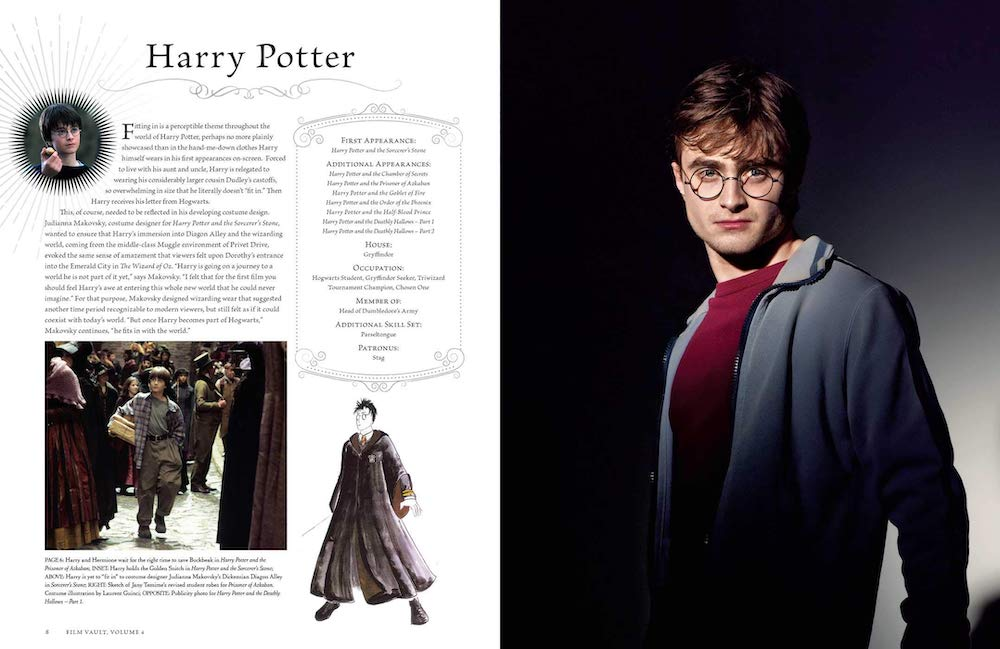 In addition to the characters themselves, this volume includes information about the costume design for each character.
