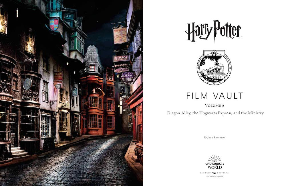 A number of pages are dedicated to well-known locations in Diagon Alley.