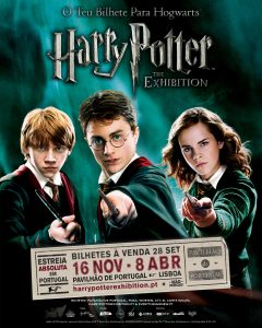 """The poster for """"Harry Potter: The Exhibition"""" in Lisbon, Portugal"""