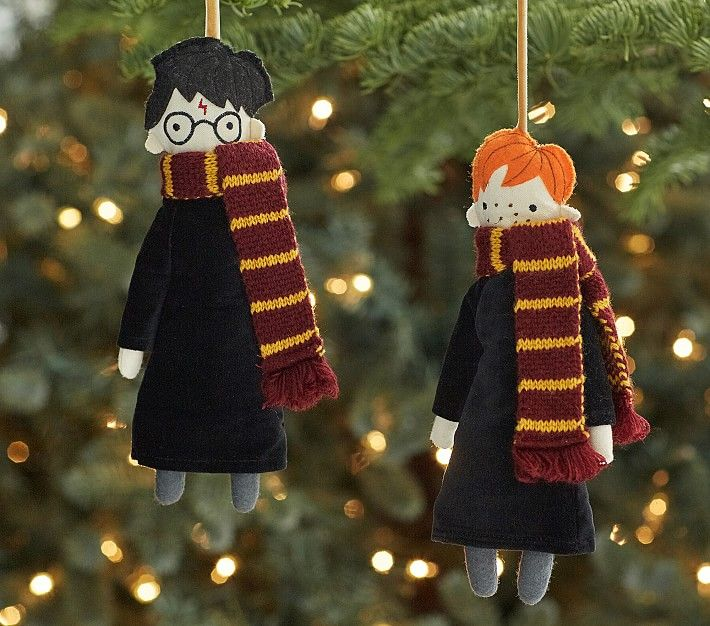 These adorable Harry and Ron ornaments are available for $24.50 each. Hermione Granger and Draco Malfoy ornaments are also available.