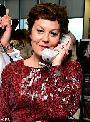 "Helen McCrory accepts a donation ""by order of the Peaky f***ing Blinders"" at BGC Charity Day."
