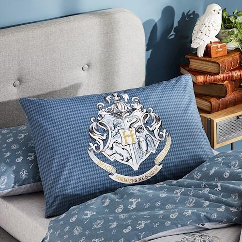 Hogwarts Crest Text Pillowcase