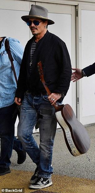 Johnny Depp arrives at the Venice International Film Festival.