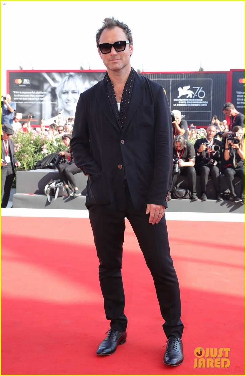 Jude Law is the picture of style on the red carpet at the Venice International Film Festival.