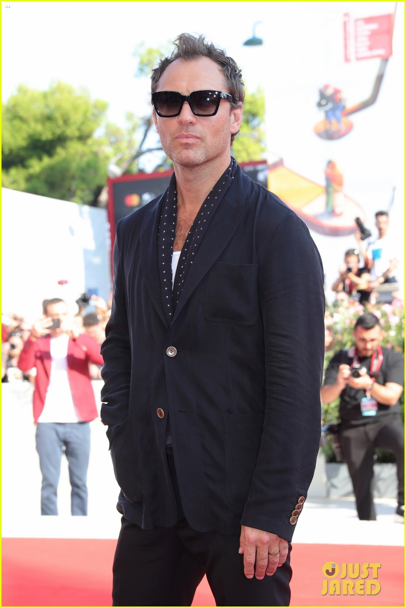 Jude Law looking fantastic as usual on the red carpet at the Venice International Film Festival.