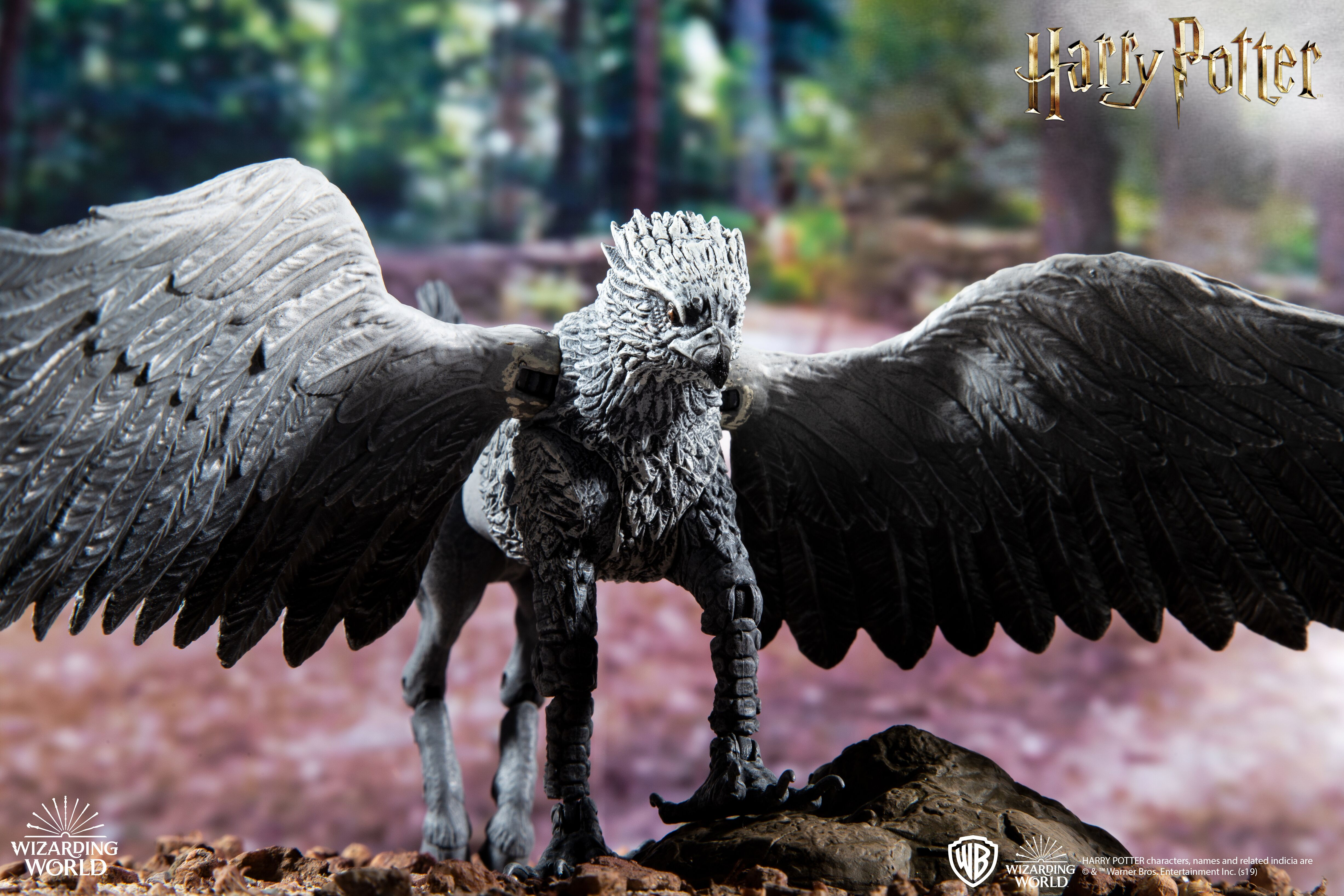 Buckbeak looks ready to take flight in this new figure from McFarlane Toys' creature line.