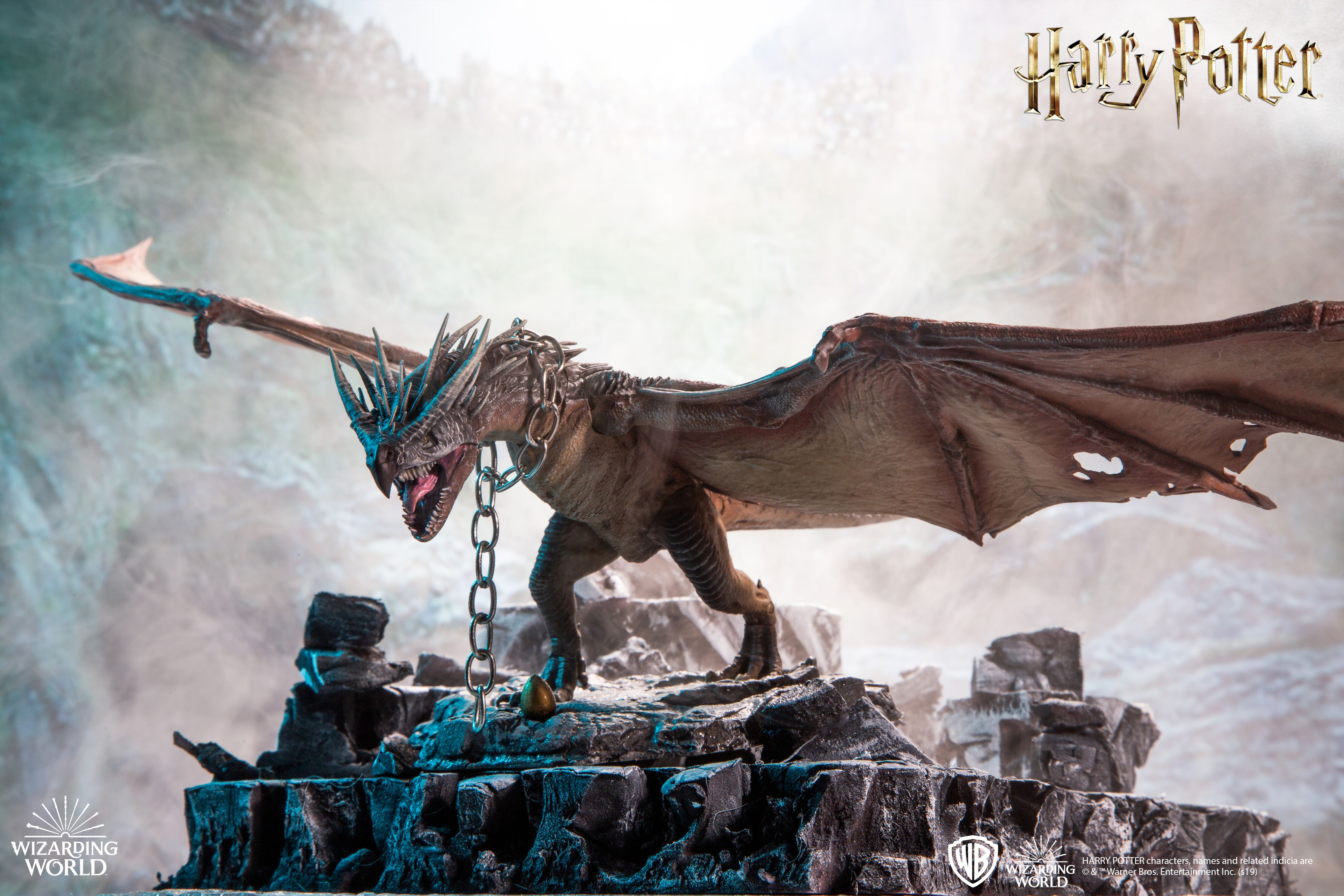 This beautiful and lifelike figure of a Hungarian Horntail is new in McFarlane Toys' creature line.