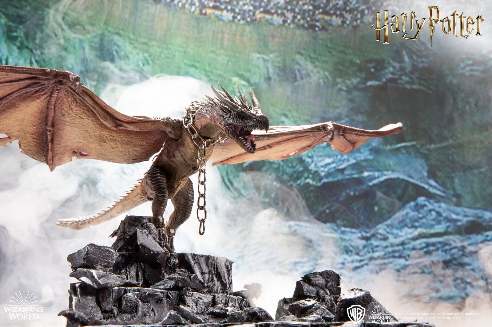 This Hungarian Horntail looks ready to defend its golden egg in this new figure from McFarlane Toys' creature line.