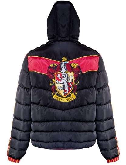 The Gryffindor crest is seen emblazoned on the back of this padded jacket from Merchoid.