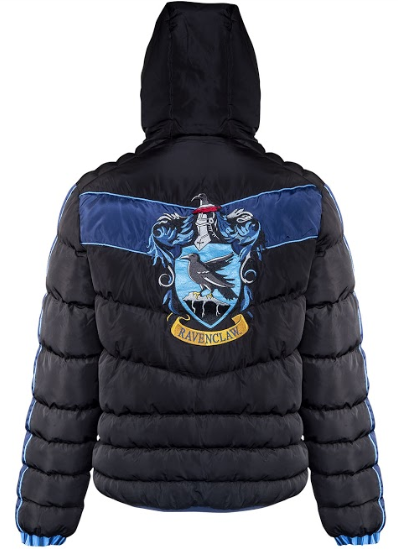 The Ravenclaw crest is seen emblazoned on the back of this padded jacket from Merchoid.