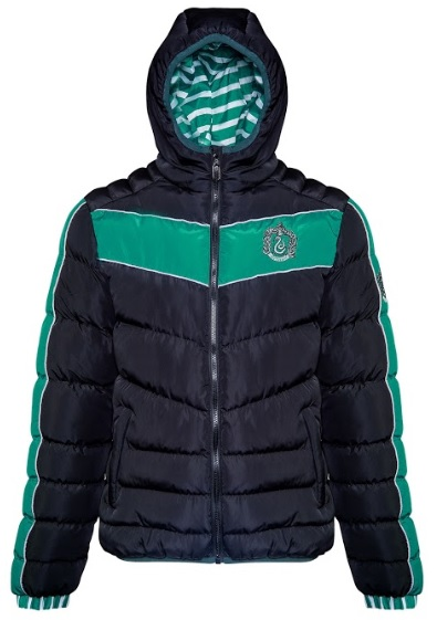 You'll be warm and repping your House pride in this Slytherin padded jacket from Merchoid.