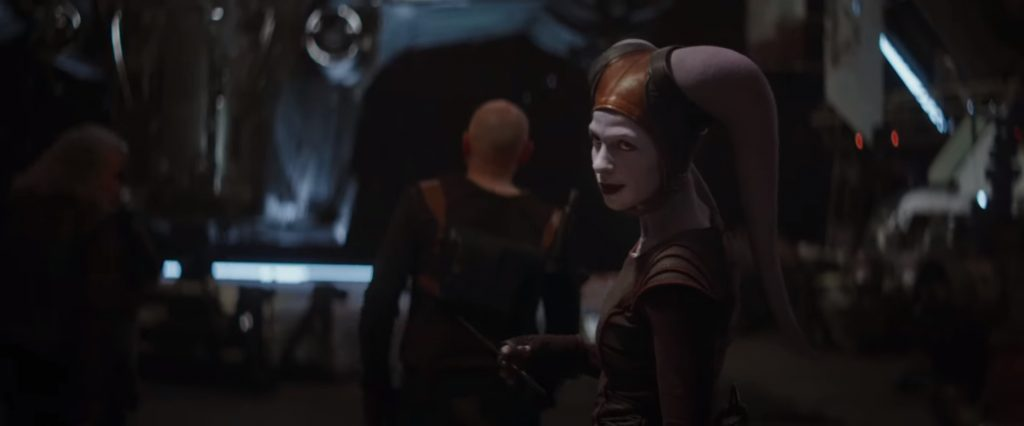 "Nat Tena is pictured as her Twi'lek character in a still from ""The Mandalorian""."