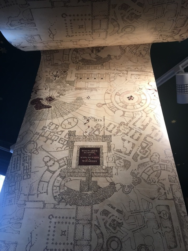 The attention to detail in the Marauder's Map is enchanting.