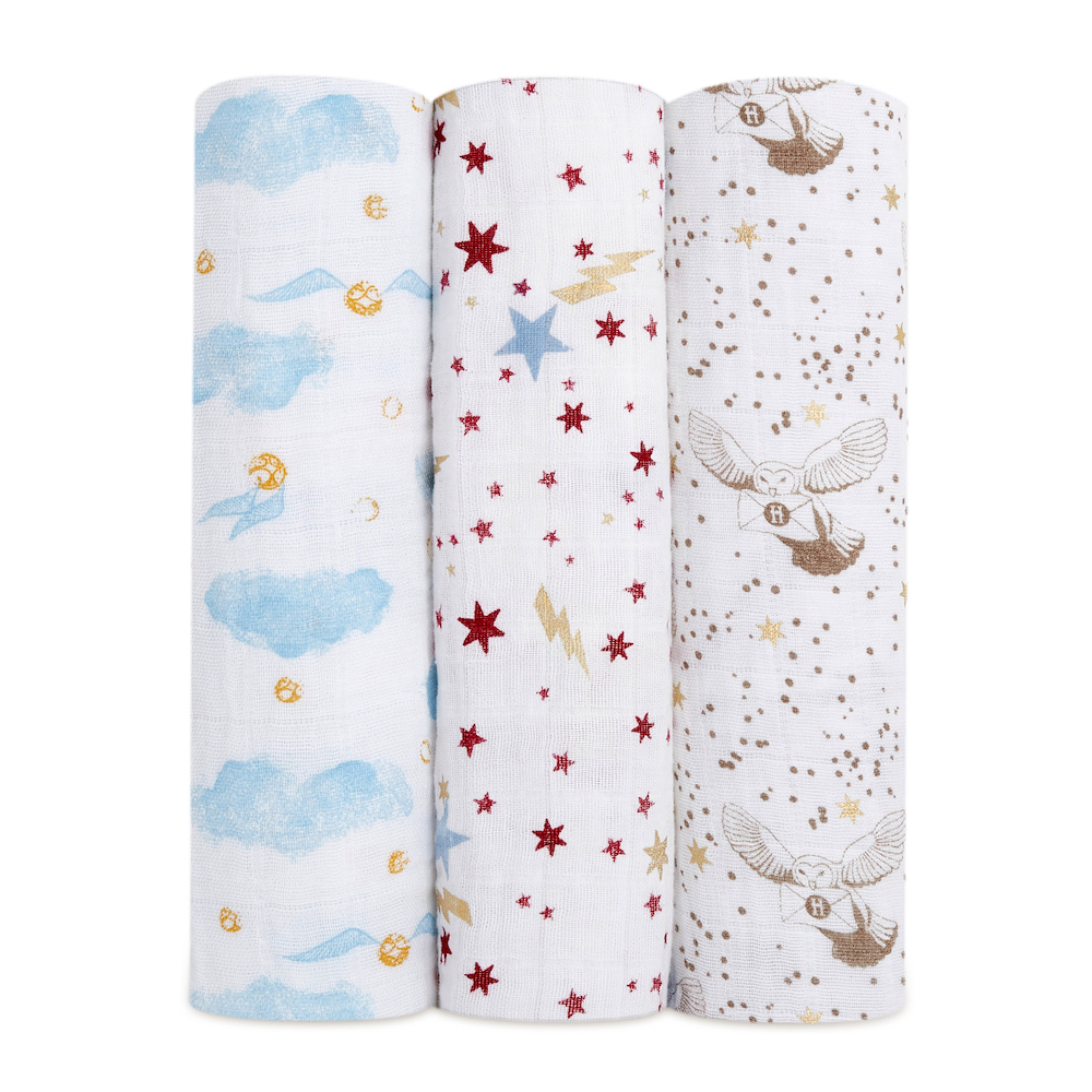 aden + anais is a premium babies' wear brand, known for its modern muslin swaddles.