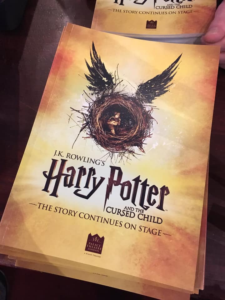 """The new logo on the """"Cursed Child"""" London programs"""