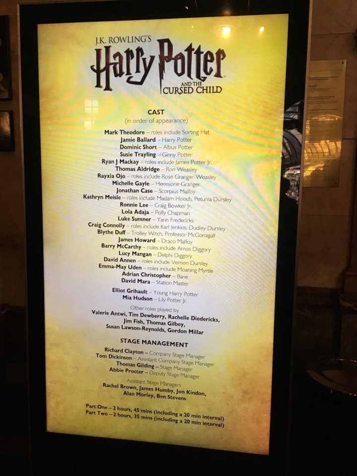 A look at the new logo on the cast list
