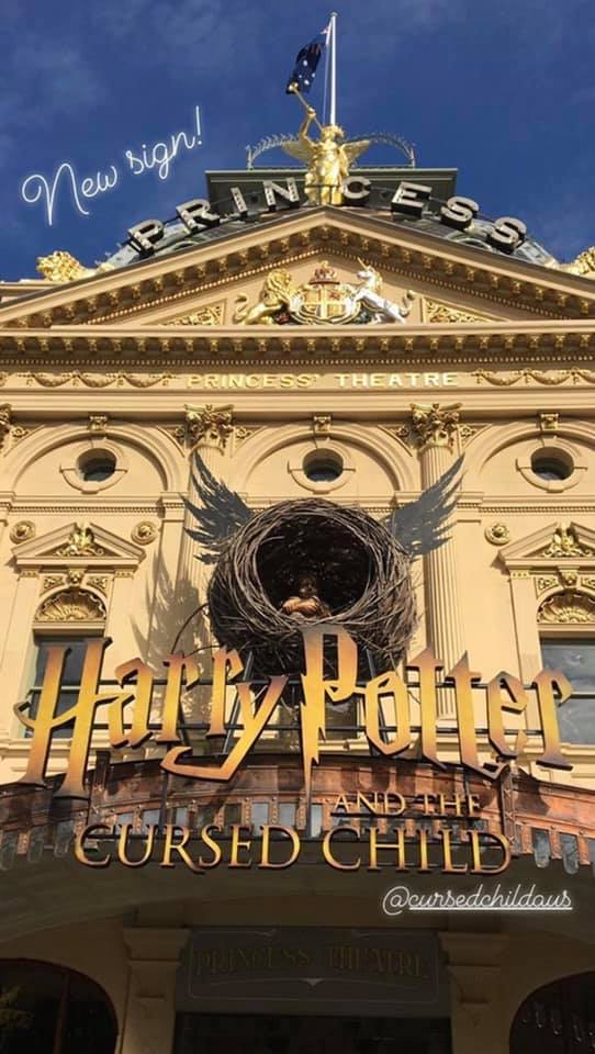 """The new """"Cursed Child"""" marquee in Australia"""