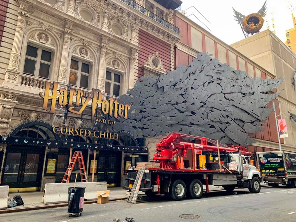 """The new """"Cursed Child"""" Broadway marquee"""