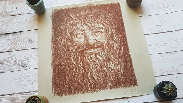 The Jim Kay illustration of Hagrid