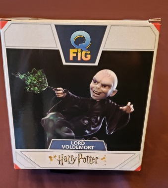 Top view of packaging depicts Voldy in all his evil glory