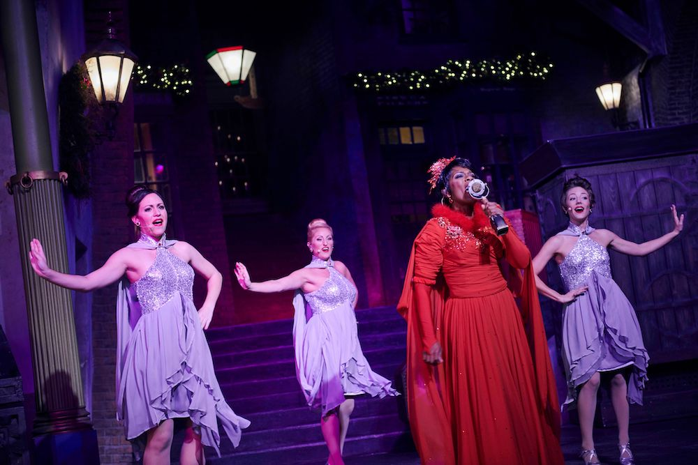 Mrs. Weasley's favorite Christmas musical act, Celestina Warbeck and the Banshees will be performing at Diagon Alley.