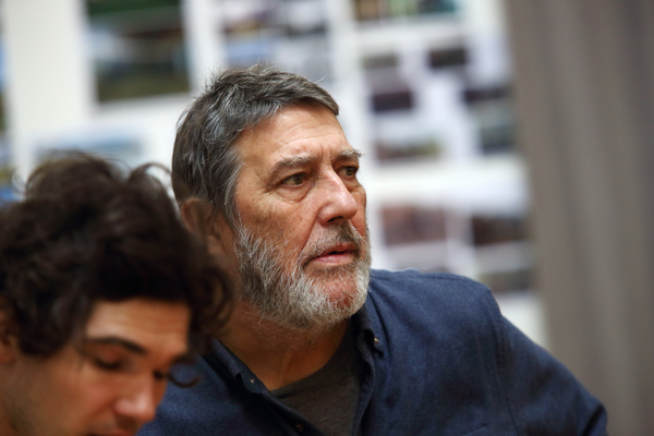 "Ciaran Hinds is pictured in a behind-the-scenes shot from ""Translations""."