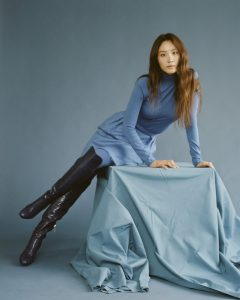 "Claudia Kim poses for ""Wonderland"" magazine."