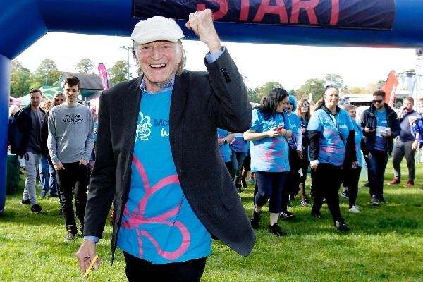 David Bradley opens an Alzheimer's Society Memory Walk in England.