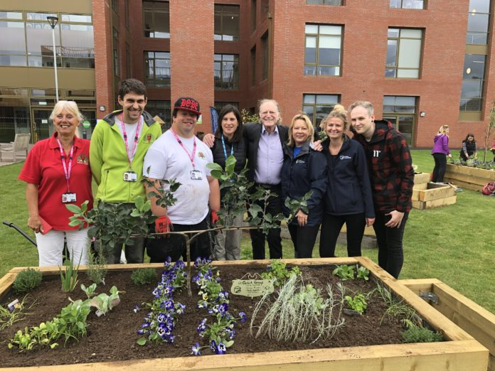 David Bradley attends the opening of a Forest of Hearts sustainable garden in Stratford, England.