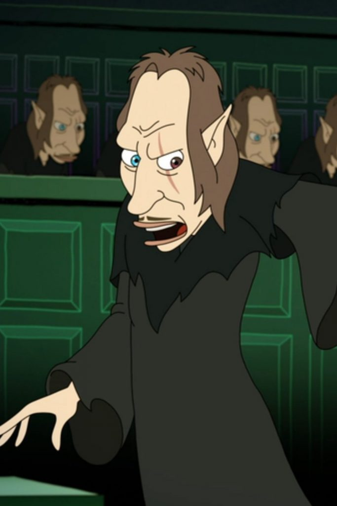 "David Thewlis's character from ""Big Mouth"", the Shame Wizard, is basically Remus Lupin mid-transformation."