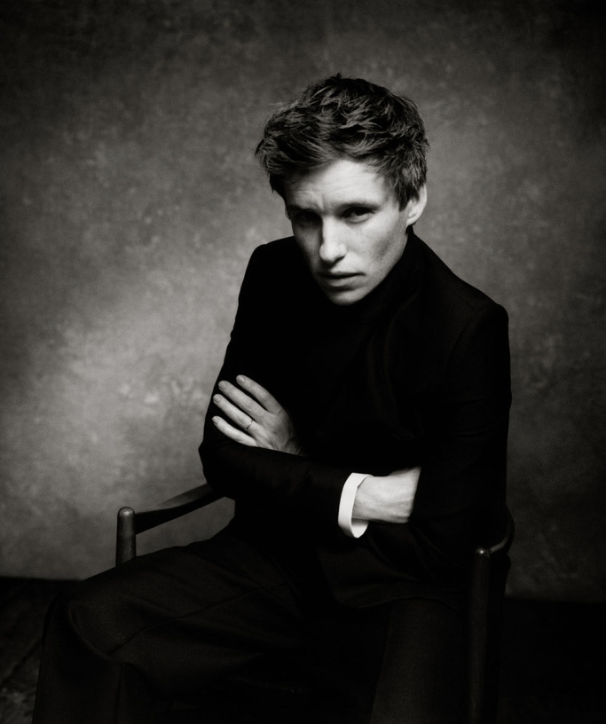 "Eddie Redmayne is pictured in a portrait from ""The Dior Sessions""."