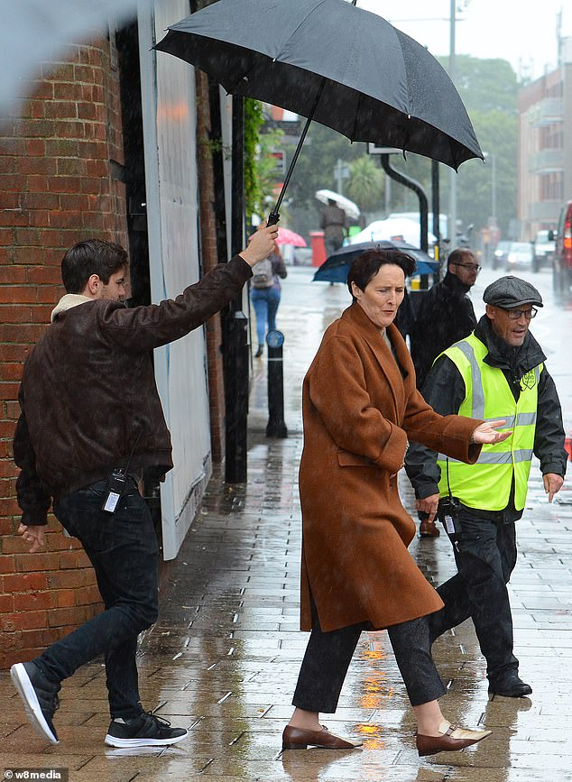 "Fiona Shaw films scenes for Season 3 of ""Killing Eve"" in London."