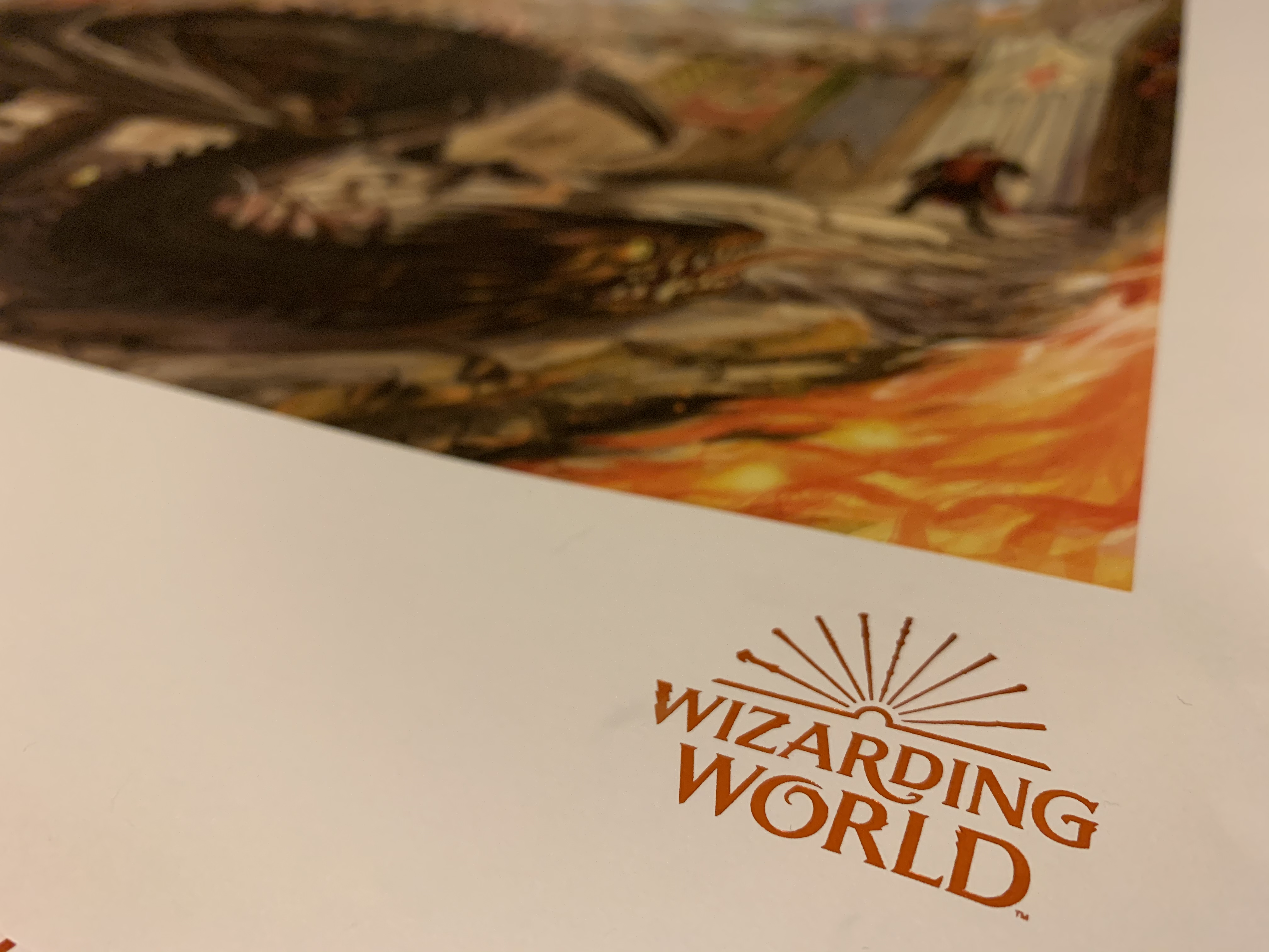 """""""Goblet of Fire"""" poster – Wizarding World logo close-up"""